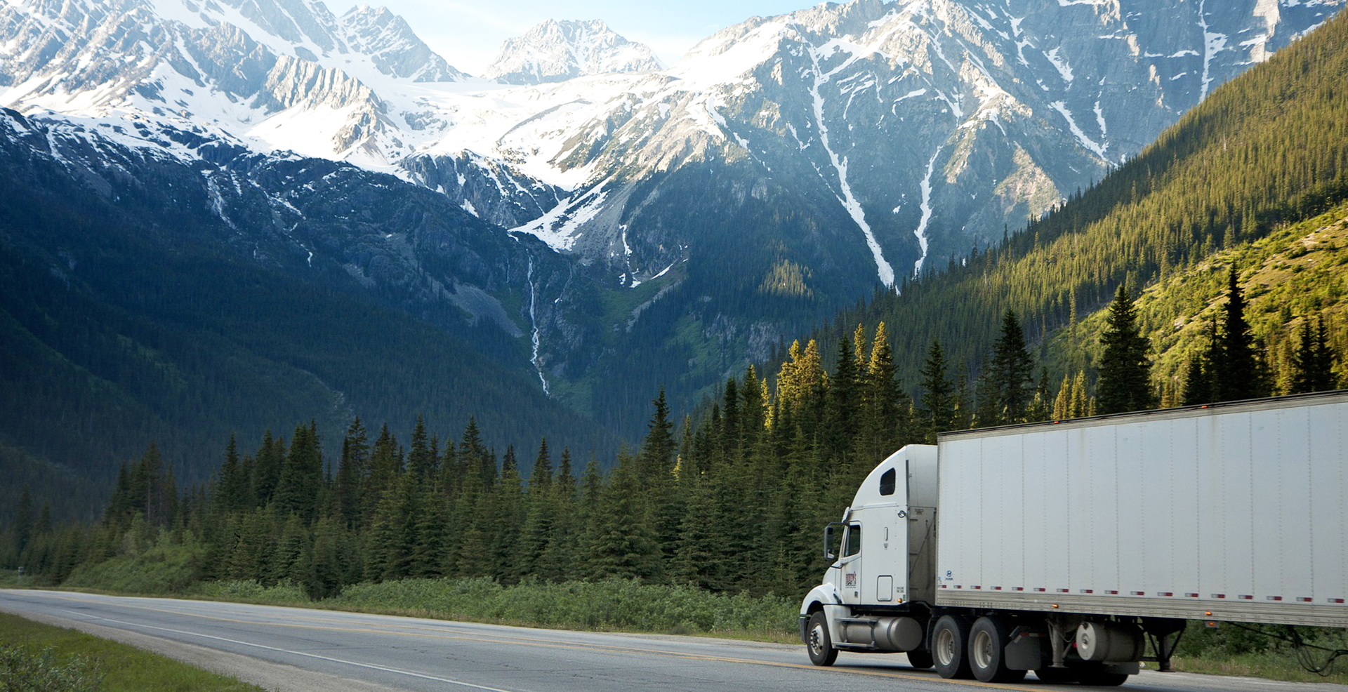 lorry carrying contract furniture travelling across Europe