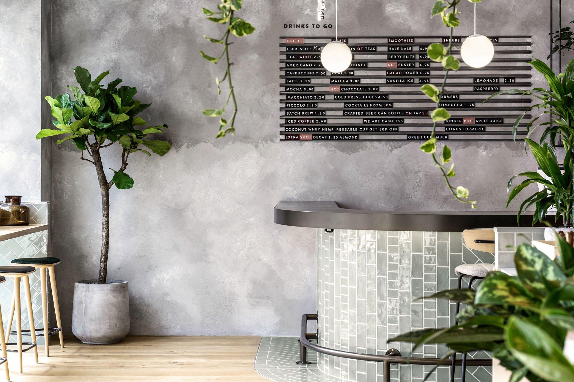menus and greenery in Farmer J interiors