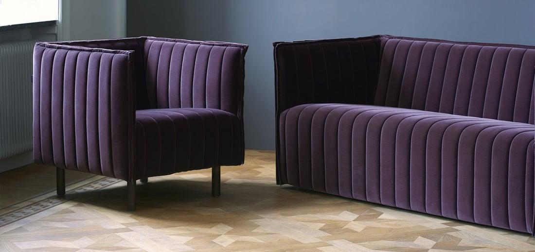 kvilt lounge chair and sofa