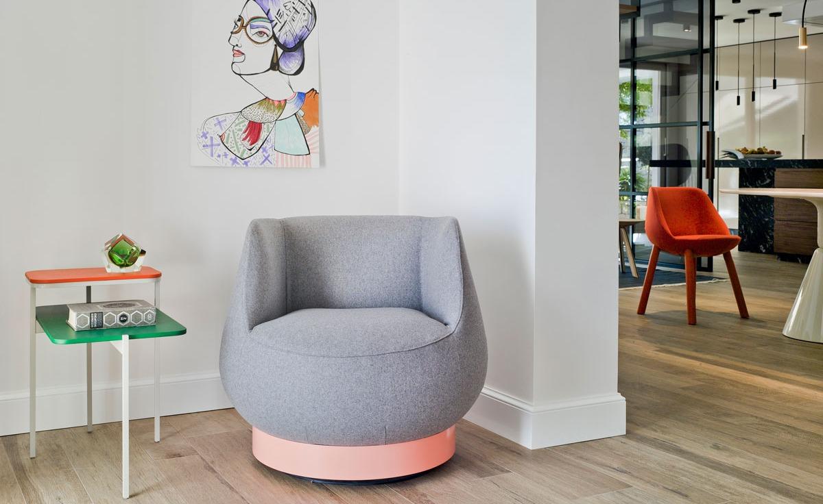 Magnum lounge chair grey