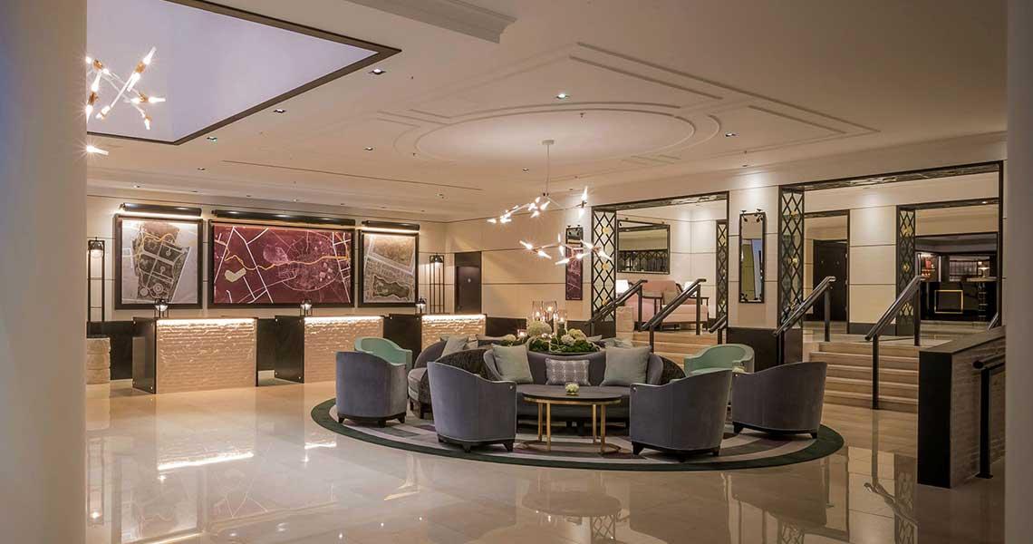 hotel furniture in lobby