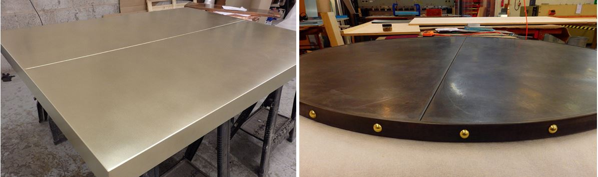 metal table tops with join