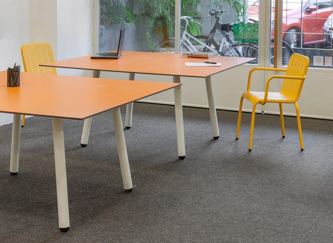 table tennis table split into desks