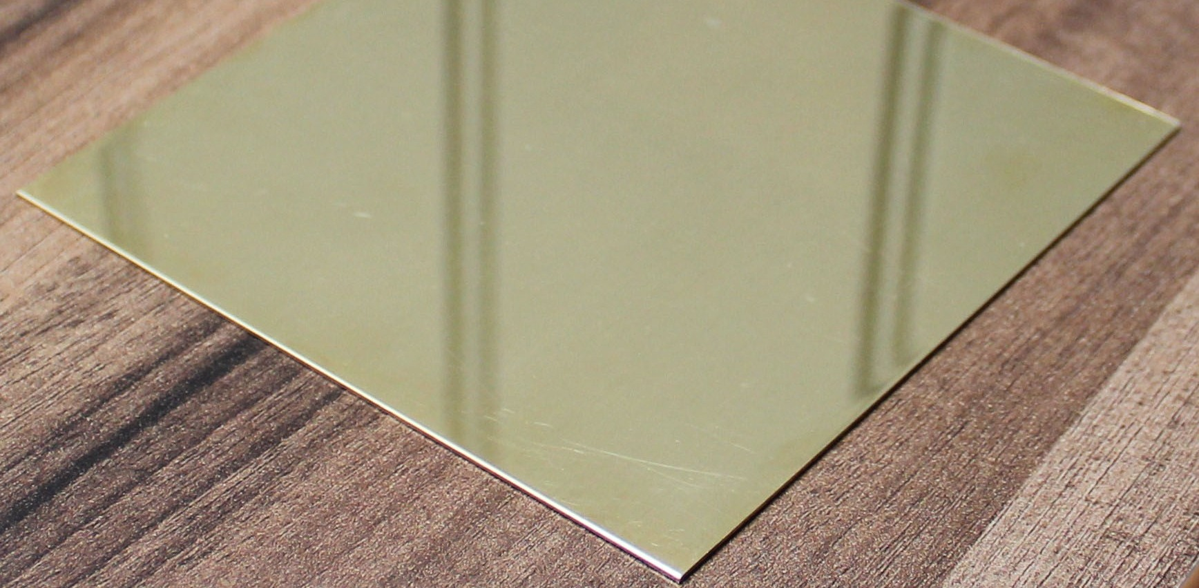 Mirror Polished brass table top