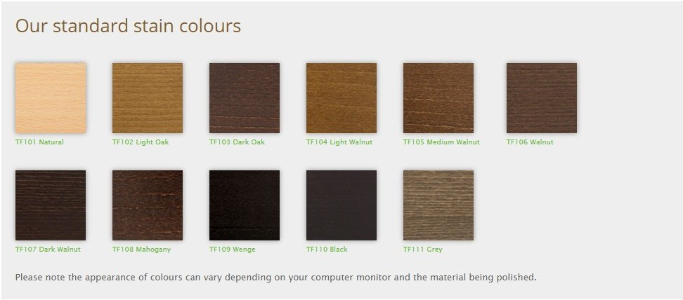 wooden table top stain colours