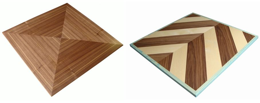 veneered table tops with patterns
