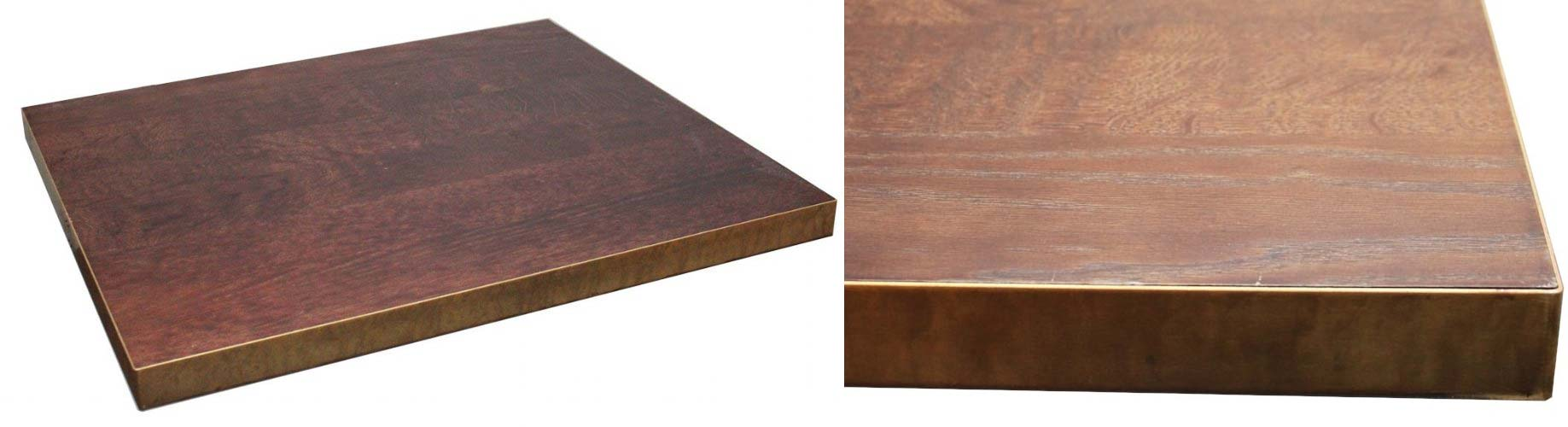 Never Fix Metal Edging To Solid Wood Table Tops