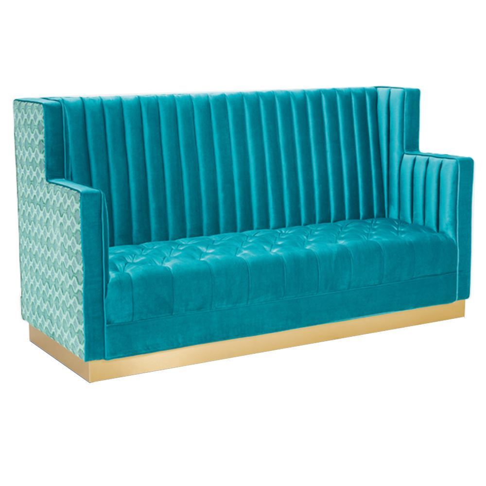 Vera high back sofa in blue