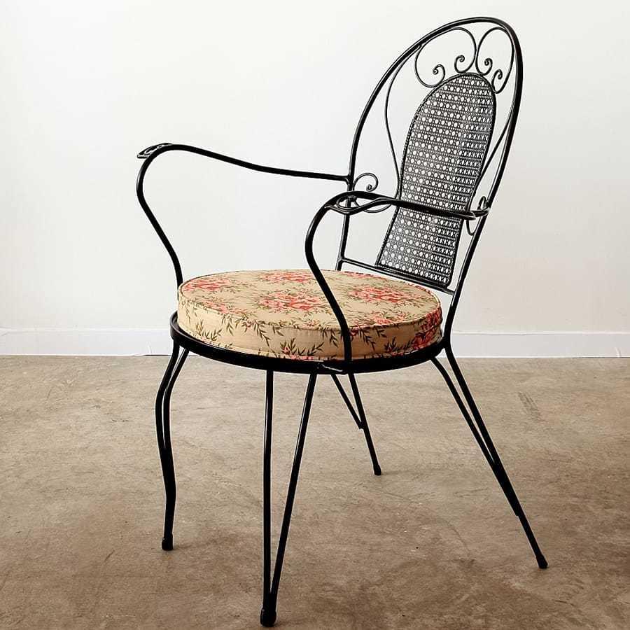 Fleur metal armchair