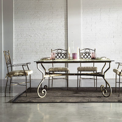 damask metal table