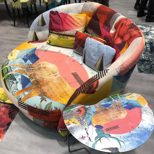 Matching chair and table at Salon del Mobile