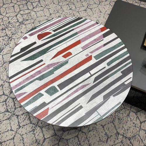 Patterned table from Salone del Mobile