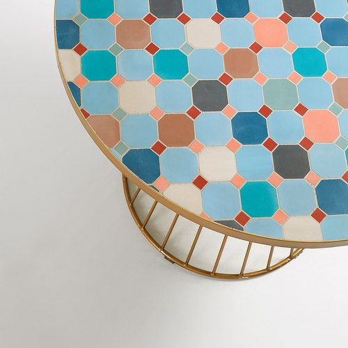 mosaic table closeup