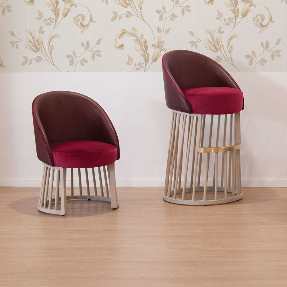 beatrice chairs with cage frame