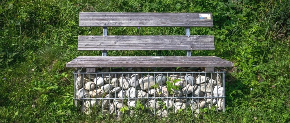 Gabion bench