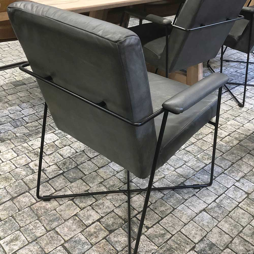 cross sled base chair from imm cologne grey