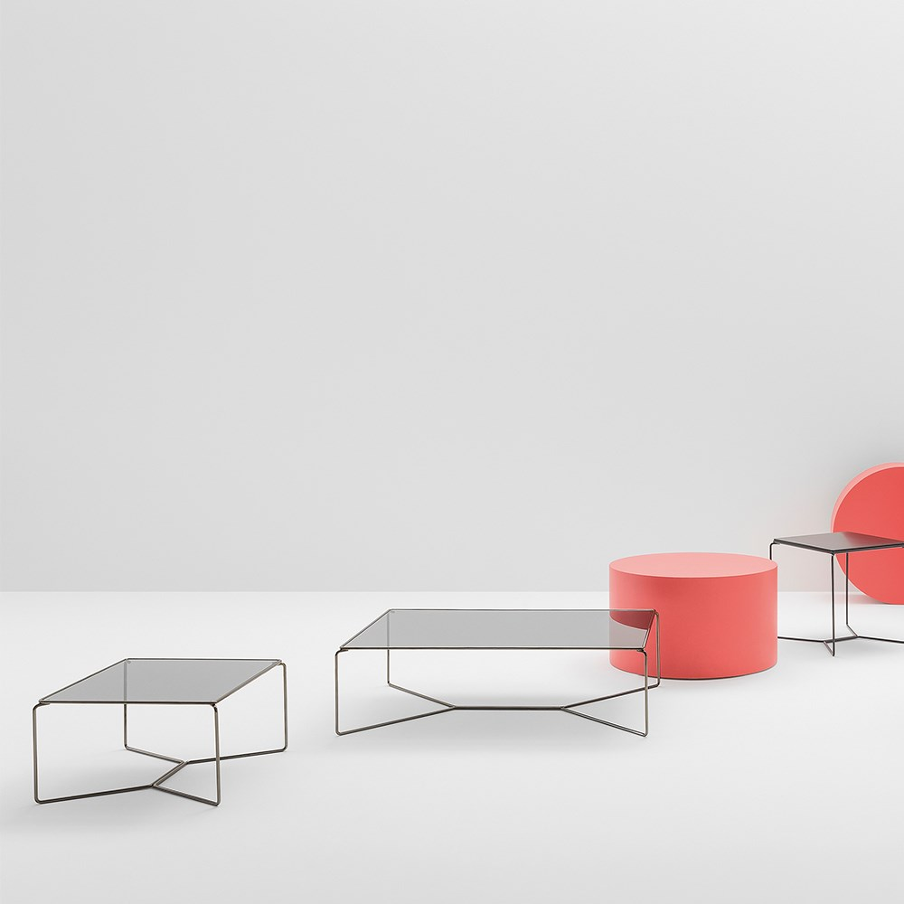 Marcel Coffee Table with cross sled base