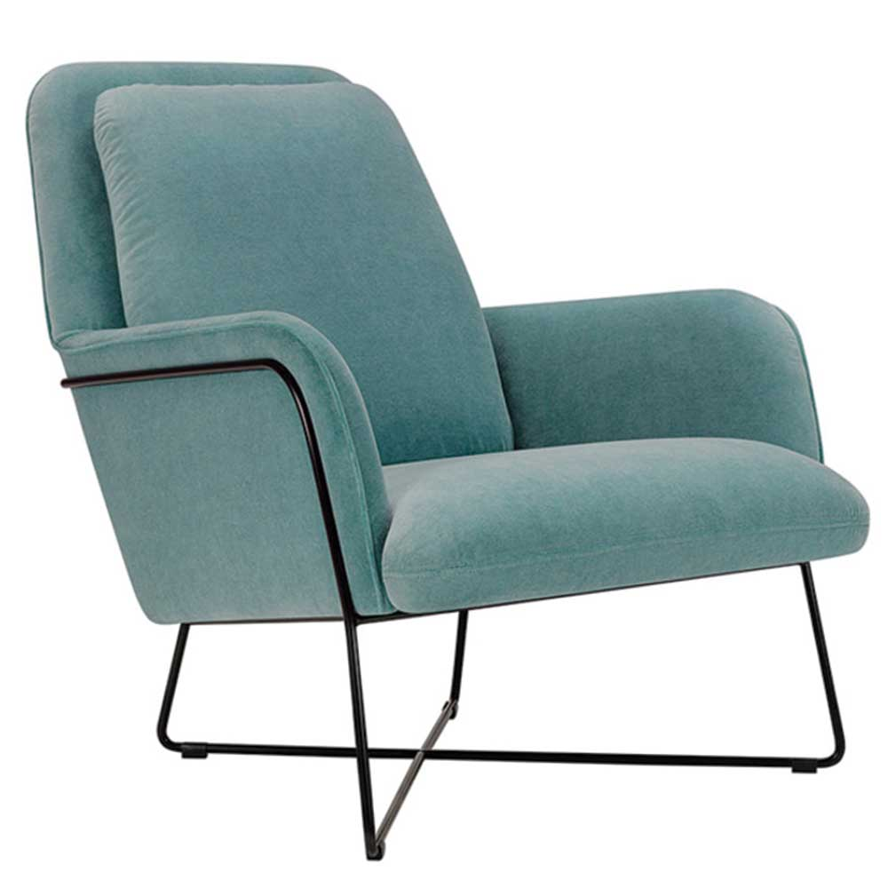 Oliver Lounge Chair with sled base