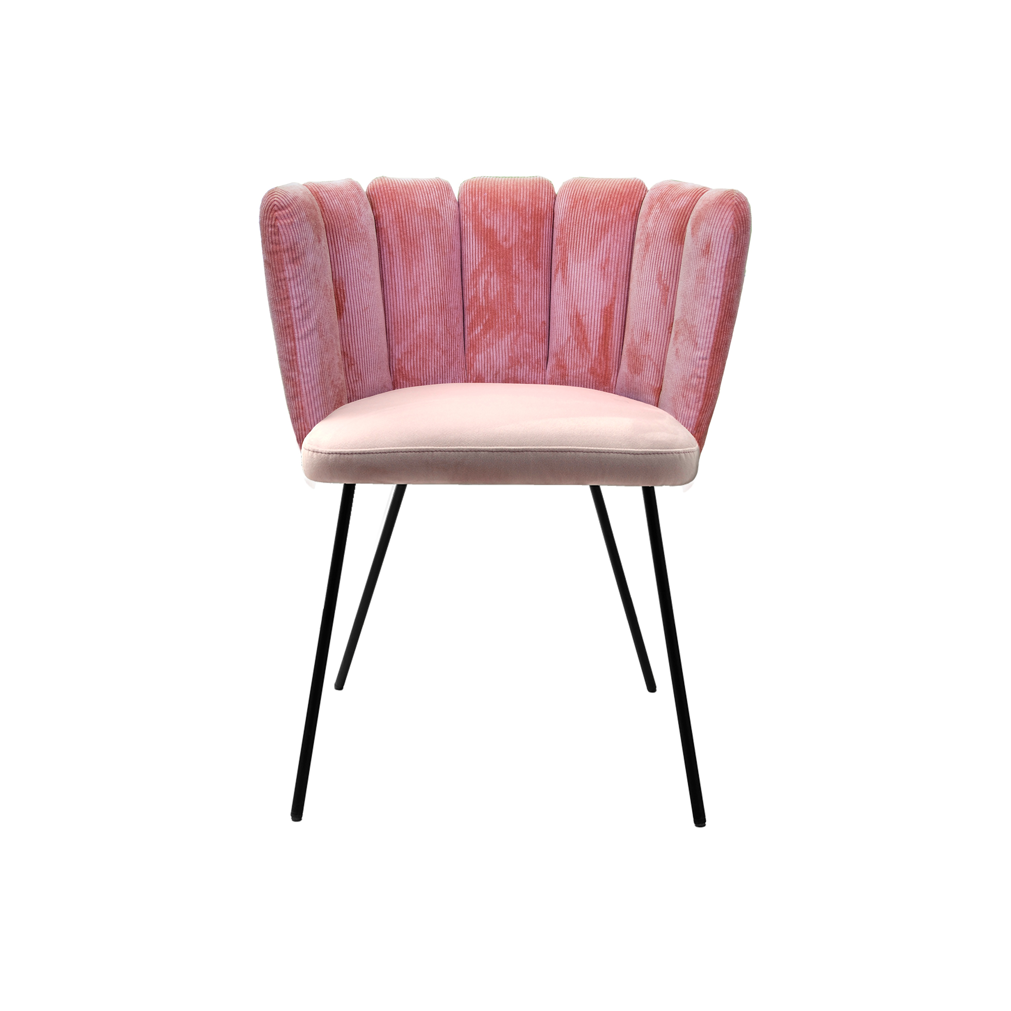 Gaia chair in pink velvet