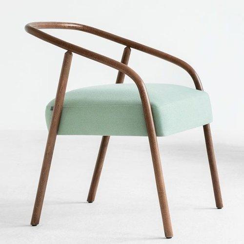 plum armchair