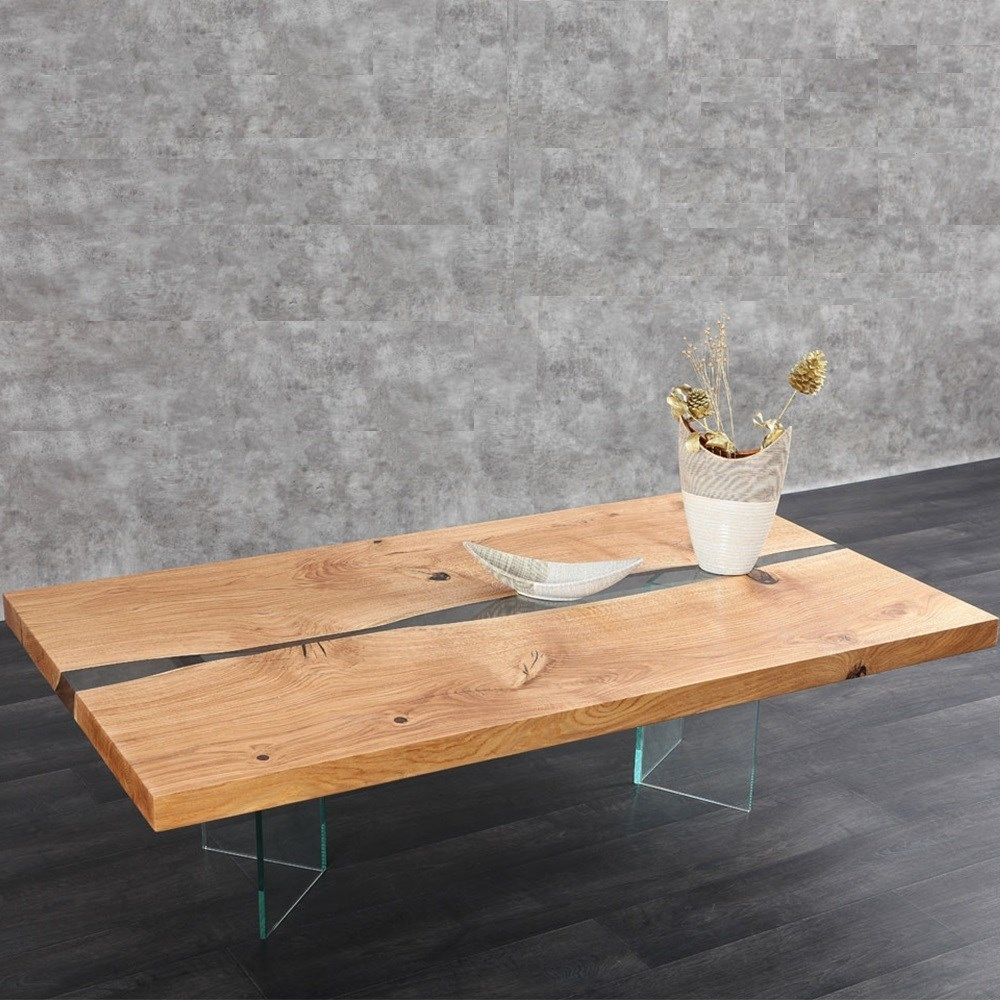 oak central resin table top