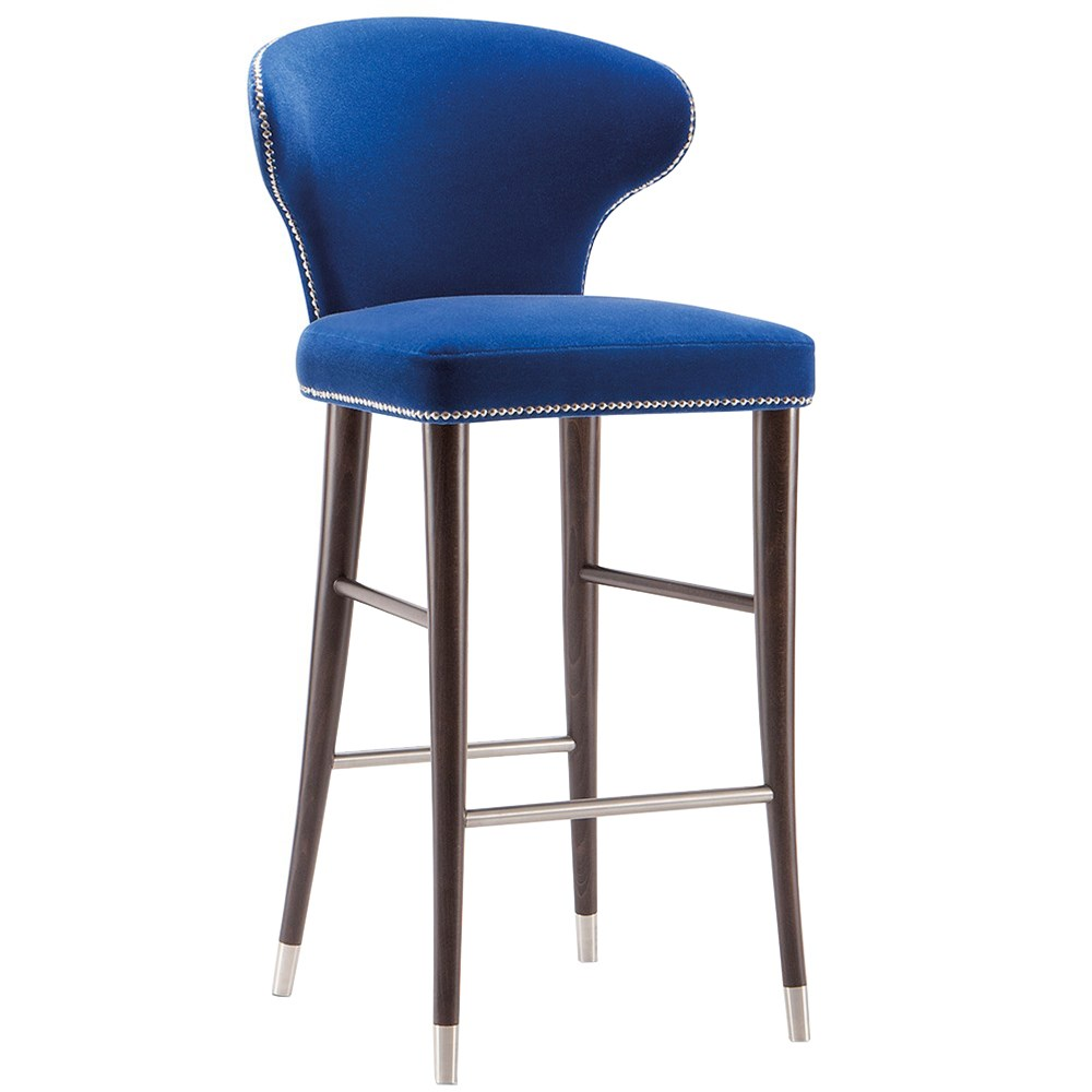 camelia barstool with metal stretchers