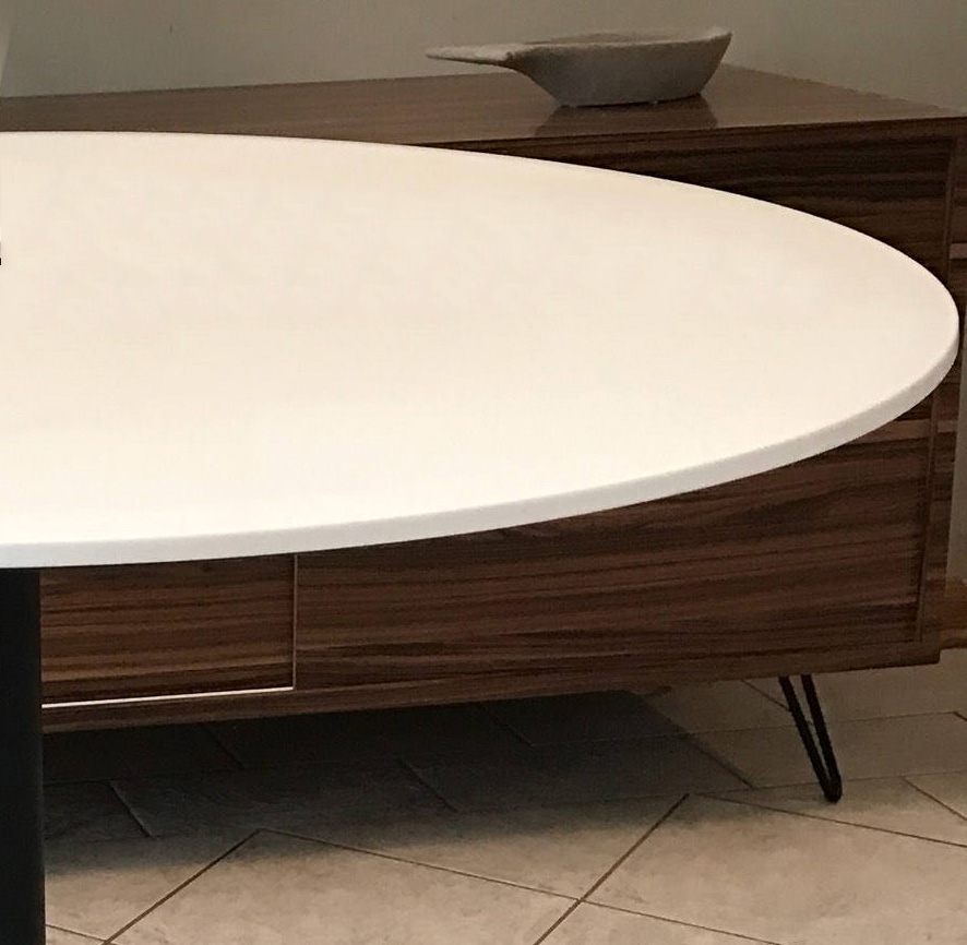 corian table top on base