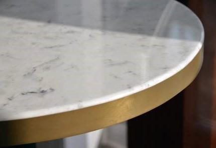versital table top metal edge