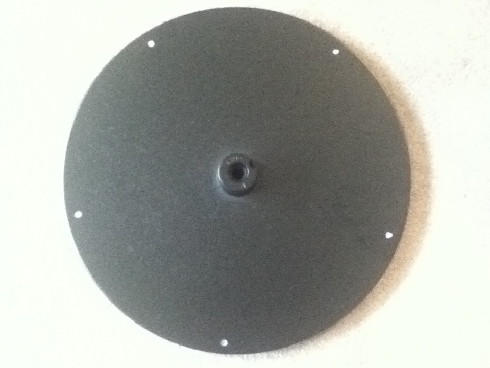 Visible screws on table base plate