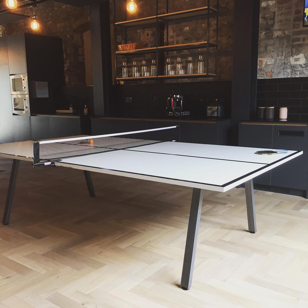 table tennis table in office kitchen