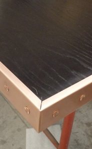 rivets for band edging on a table-top