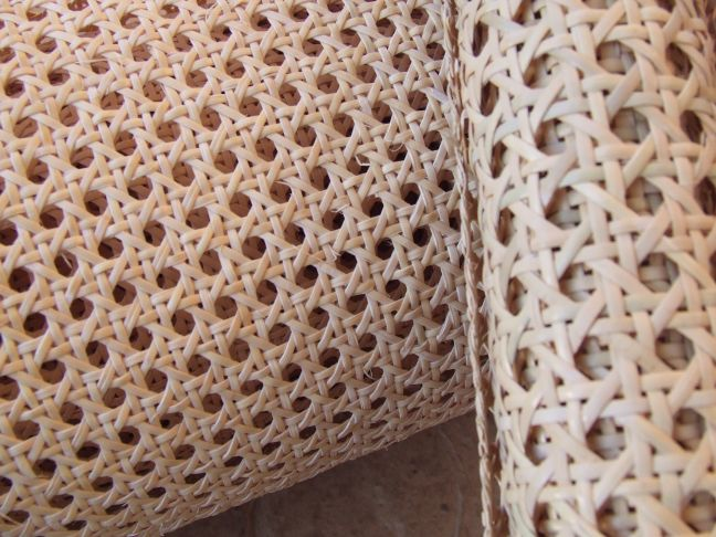 Cane weave close up