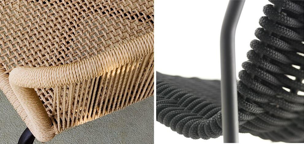 Rope woven furniture