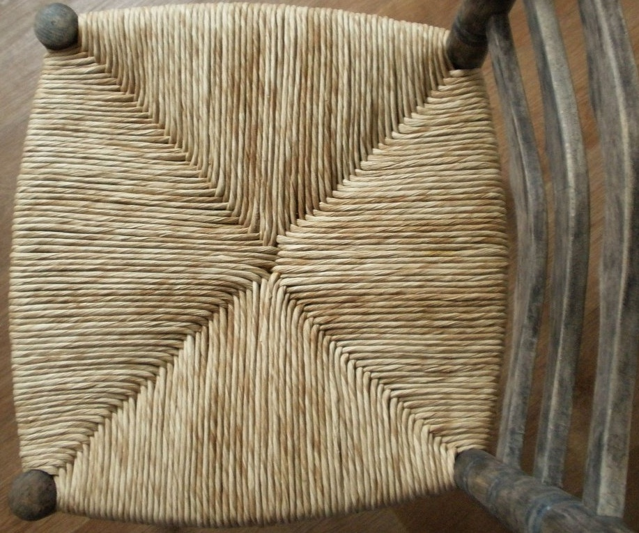 Rush woven furniture chair