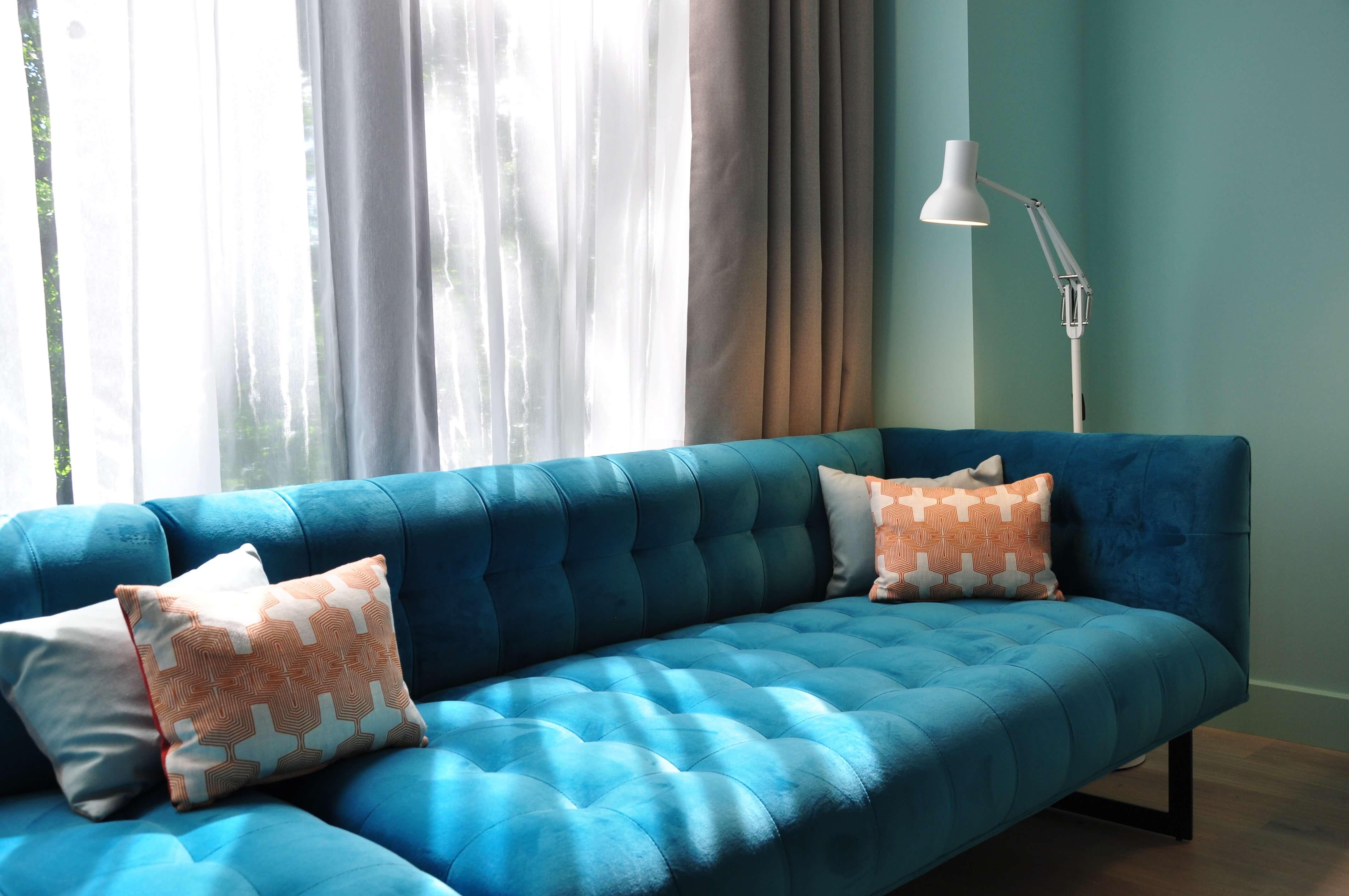 hotel interiors blue Verona sofa